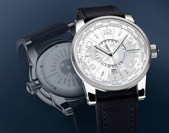 MONTBLANC TIMEWALKER WORLD-TIME HEMISPHERE WATCH