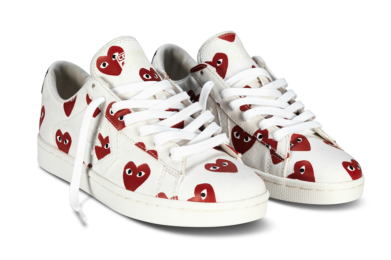 cdg converse leather