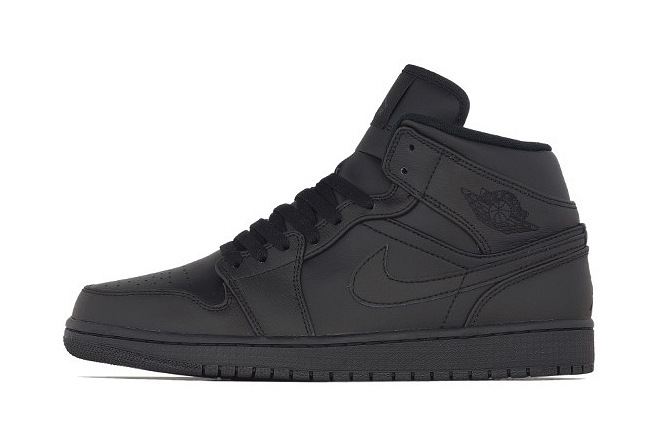 Air Jordan 1 Mid Black/Black
