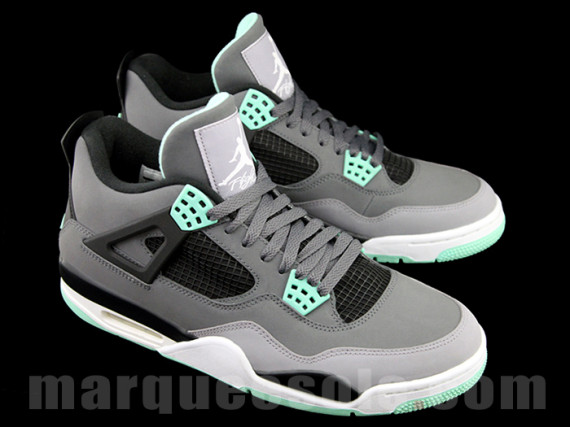 Air Jordan Grey Green Glow