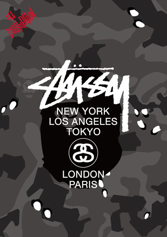 competitive price 74103 f02ee ... stussy x bape survival of the fittest ...