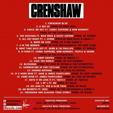 Nipsey Hussle – #Crenshaw (Documentary)
