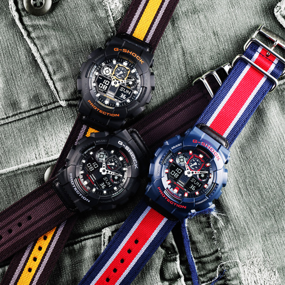 "CASIO G-SHOCK GA-100MC WATCH – ""MILITARY CLOTH"" COLLECTION"