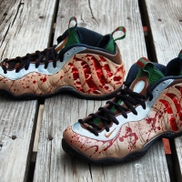 "NIKE AIR FOAMPOSITE ONE ""FREDDY KRUEGER"" CUSTOMS - BY GOURMET KICKZ"
