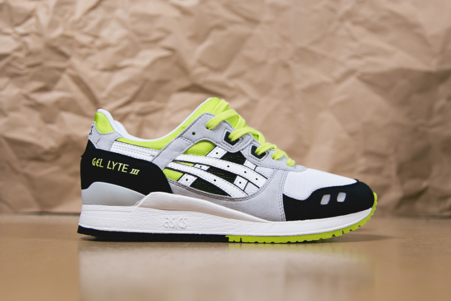asics gel lyte iii green orange