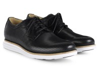 COLE HAAN LUNARGRAND PERFORATED PLAIN TOE – BLACK