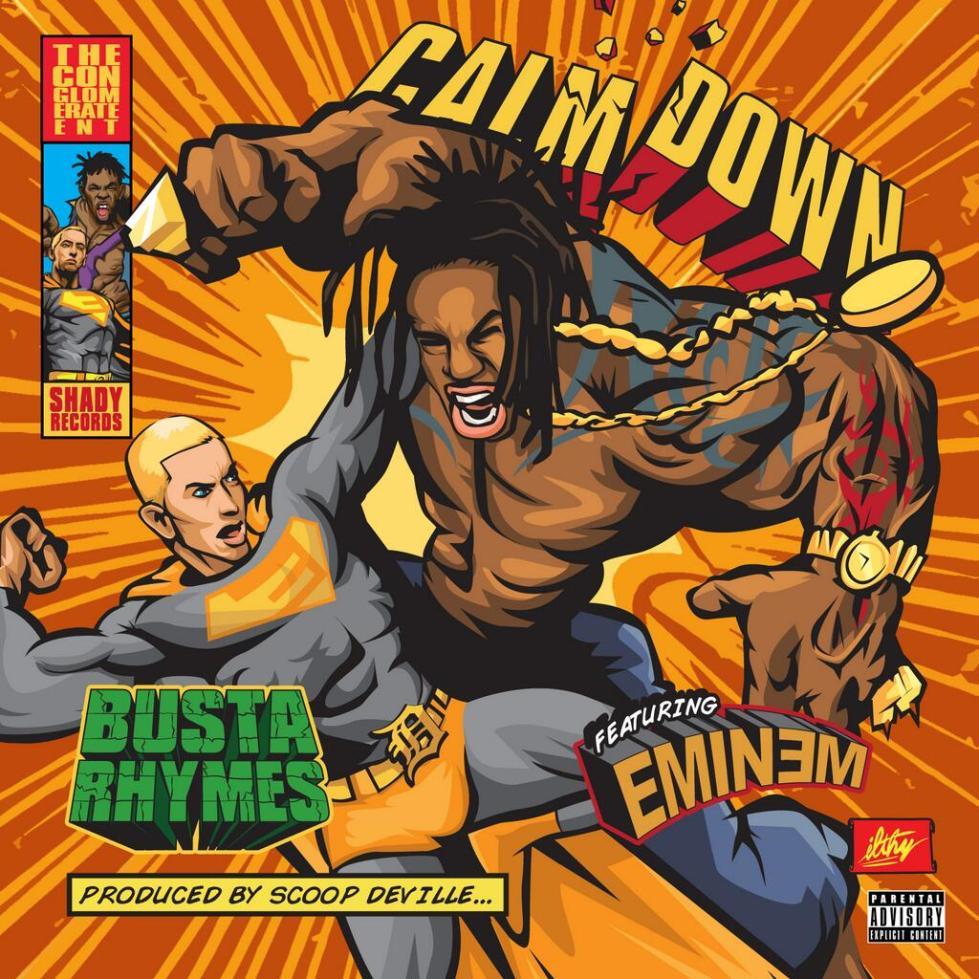 Busta Rhymes ft. Eminem – Calm Down (Artwork)
