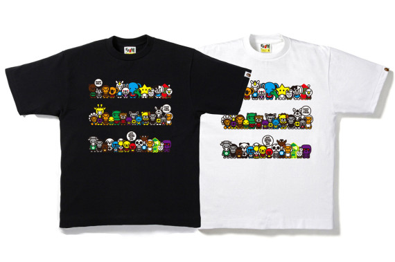 A BATHING APE – BABY MILO A TO Z HOOP T-SHIRT