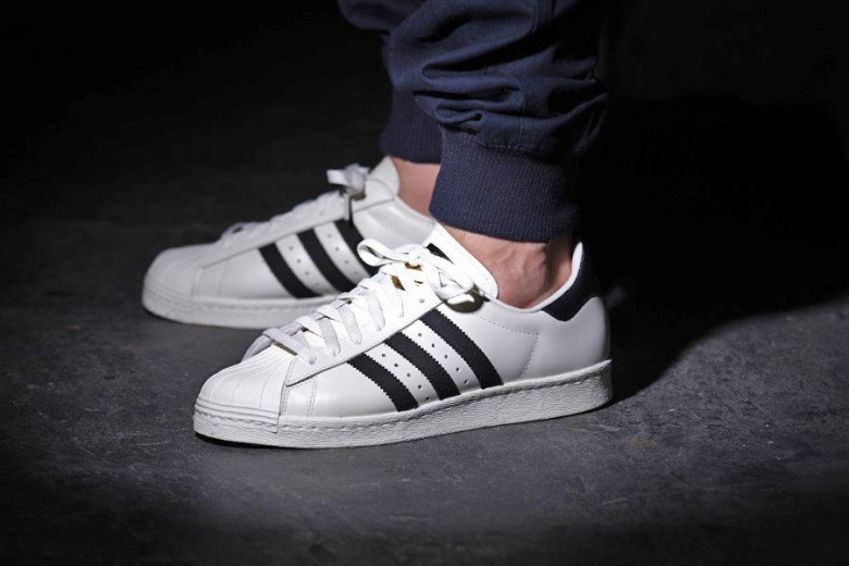 Adidas Superstar 80S x Kasina Men's White/White Core Black Size