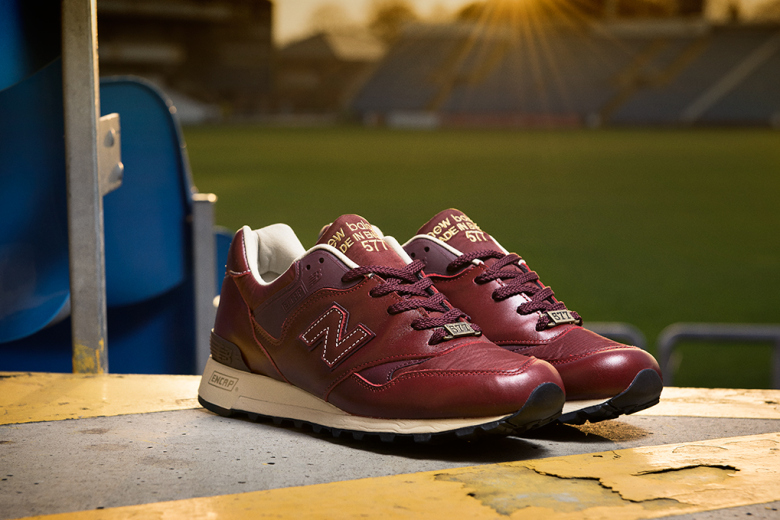 new balance rouge cuir