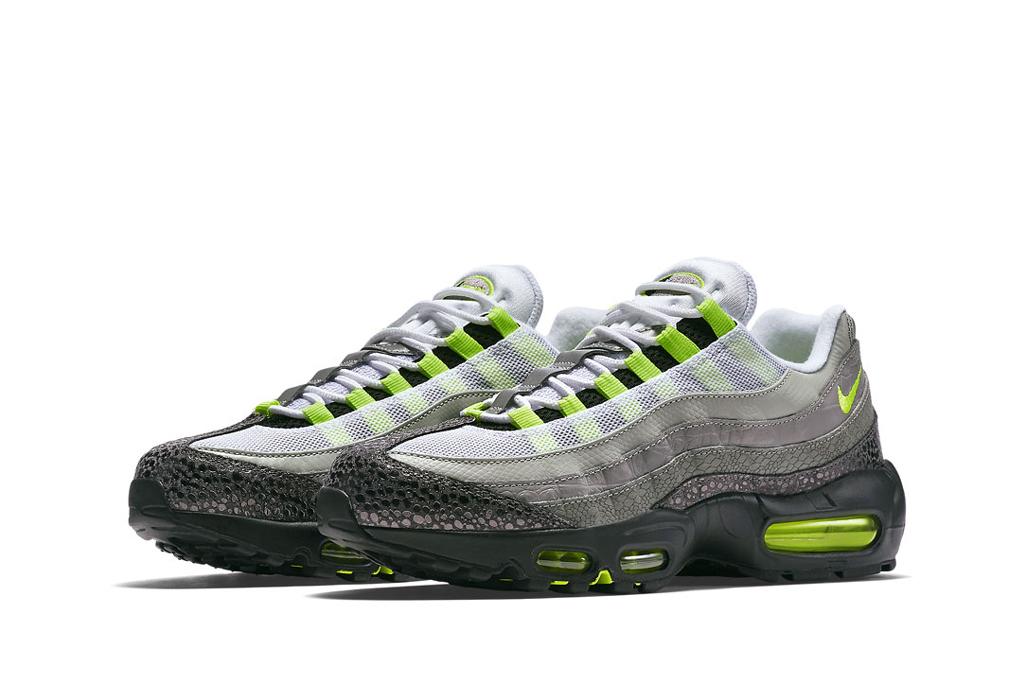 innovative design de00e 681e5 ... Nike Air Max 95 Classic LE Neon Green Grey Running Shoes ...