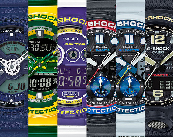 CASIO G-SHOCK AUGUST 2015 NEW RELEASES