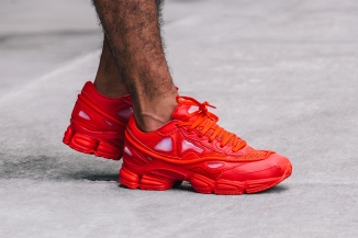 """A Closer Look at the Raf Simons x adidas Consortium Ozweego 2 """"Red"""""""