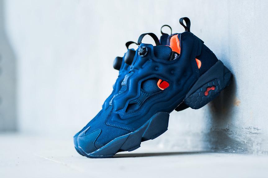 reebok pump bleu