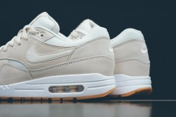 "Nike has released the Air Max 1 Essential in a new phantom/phantom-white colorway. It does really not get much cleaner. In fact the colorway is so subtle, that it could be a collaboration with French brand A.P.C. Whenever the two have worked together in the past on the Air Max 1, the outcome was timeless, premium and minimal. You can say the same about these, featuring an off-white upper with accents of white, sitting on a crisp white mid-sole and a gum outer sole. The Nike Air Max 1 Essential ""Phantom"" is now available"