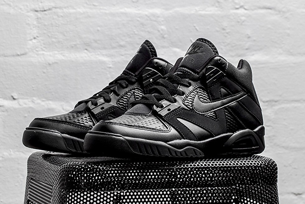 "THE NIKE AIR TECH CHALLENGE III GETS A SLEEK ""TRIPLE BLACK"" UPDATE"