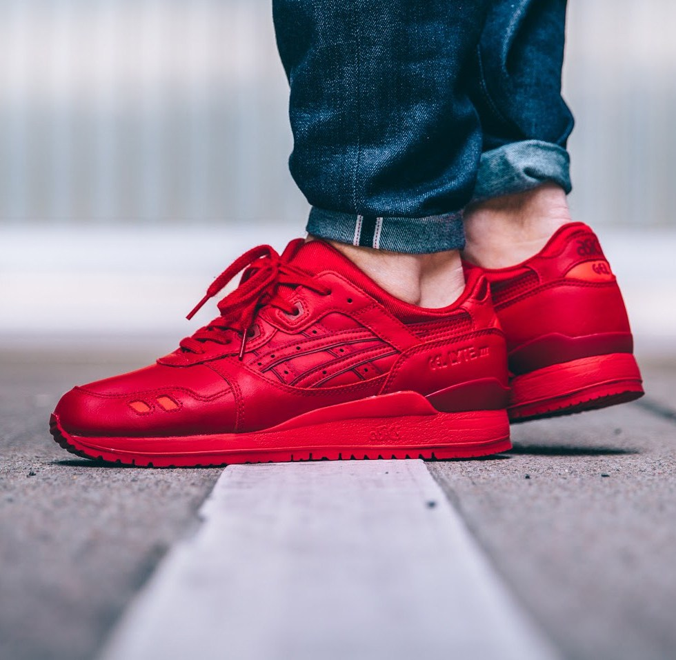ASICS' Gel-Lyte III Gets the All-Red Treatment