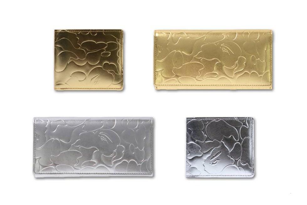 "A Bathing Ape Drops a Range of Silver & Gold Foil ""ABC"" Wallets"