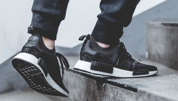 Adidas Originals NMD R1 Runner Core Black white triple Cargo Trail