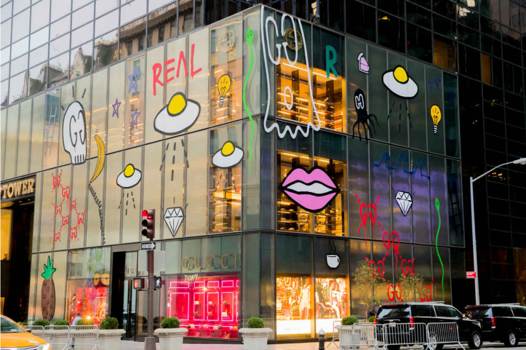 """Gucci's New York Flagship Gets """"Tagged"""" by GucciGhost"""
