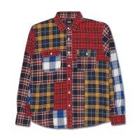 Stüssy's Mixed Plaid Patchwork Shirt