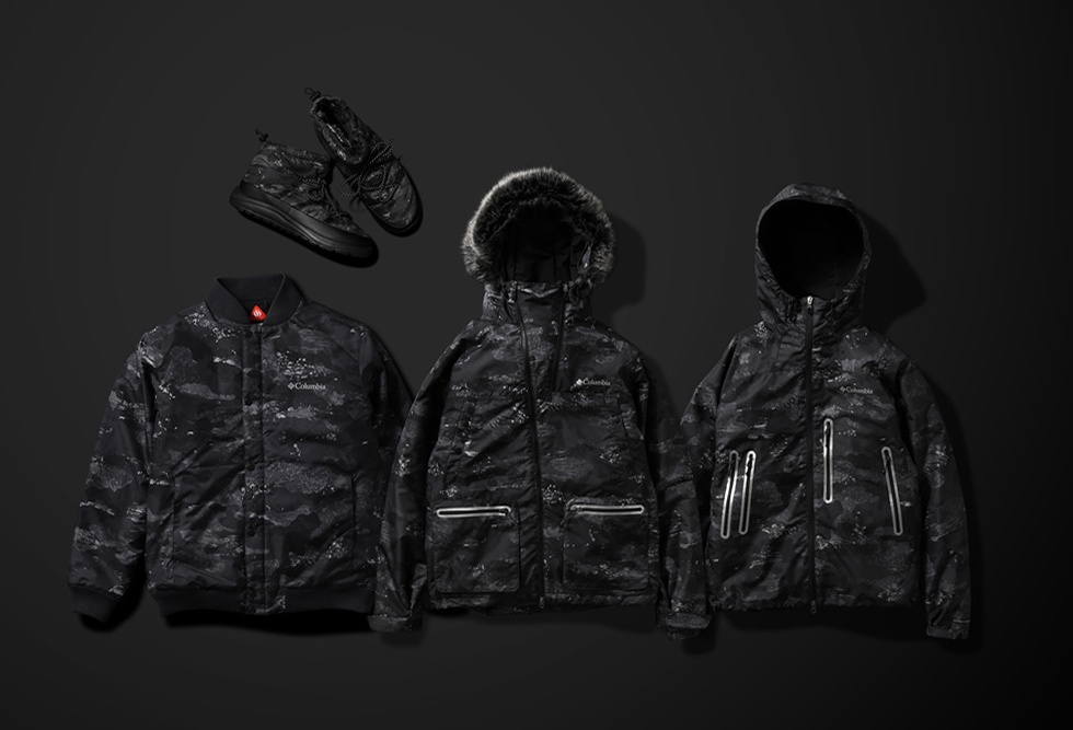 "atmos Lab x Columbia's ""Coal Camo"" Collection"