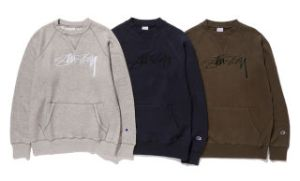 STUSSY x CHAMPION - NEW FLEECE COLLECTION