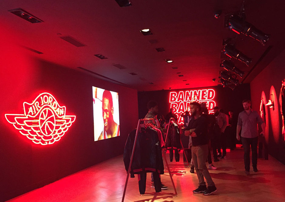 "LOOK AT THE JORDAN ""BANNED"" POP-UP IN NYC"