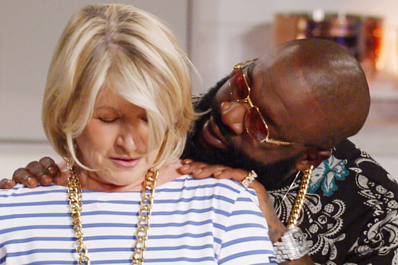Watch Rick Ross Flirt With Martha Stewart