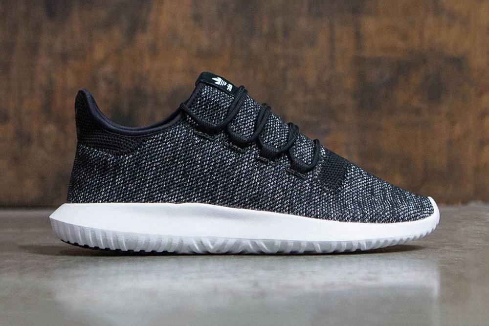 adidas Tubular Shadow Knit Drops in Black