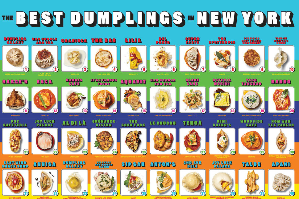 'New York Magazine' Creates Trading Cards and a Poster of NYC's Best Dumplings