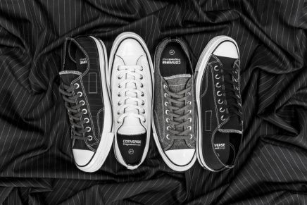 """CONVERSE x FRAGMENT DESIGN ON THE CHUCK TAYLOR ALL STAR '70 """"TUXEDO"""" COLLECTION"""
