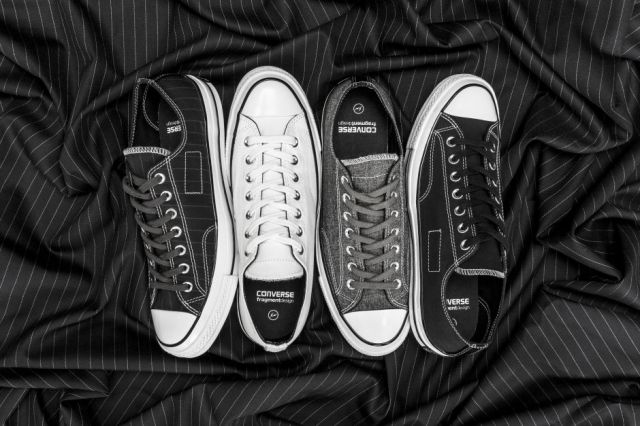 "CONVERSE x FRAGMENT DESIGN ON THE CHUCK TAYLOR ALL STAR '70 ""TUXEDO"" COLLECTION"