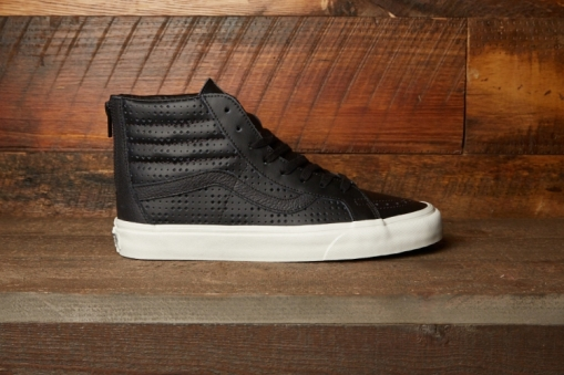 Vans Leather Perf Sk8-Hi Reissue Zip @DQM