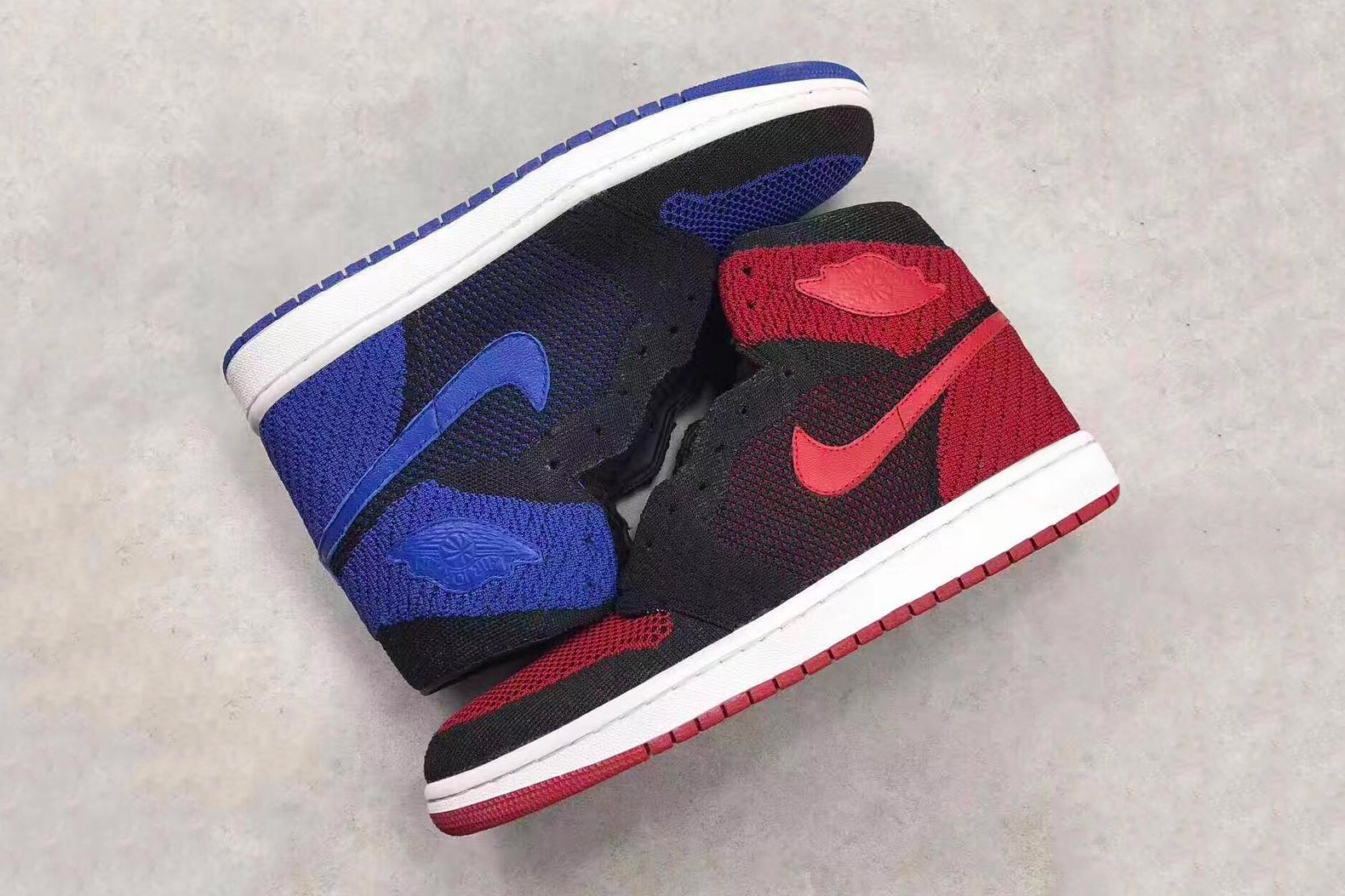 """Air Jordan 1 Flyknit In """"Banned"""" And """"Royal"""""""