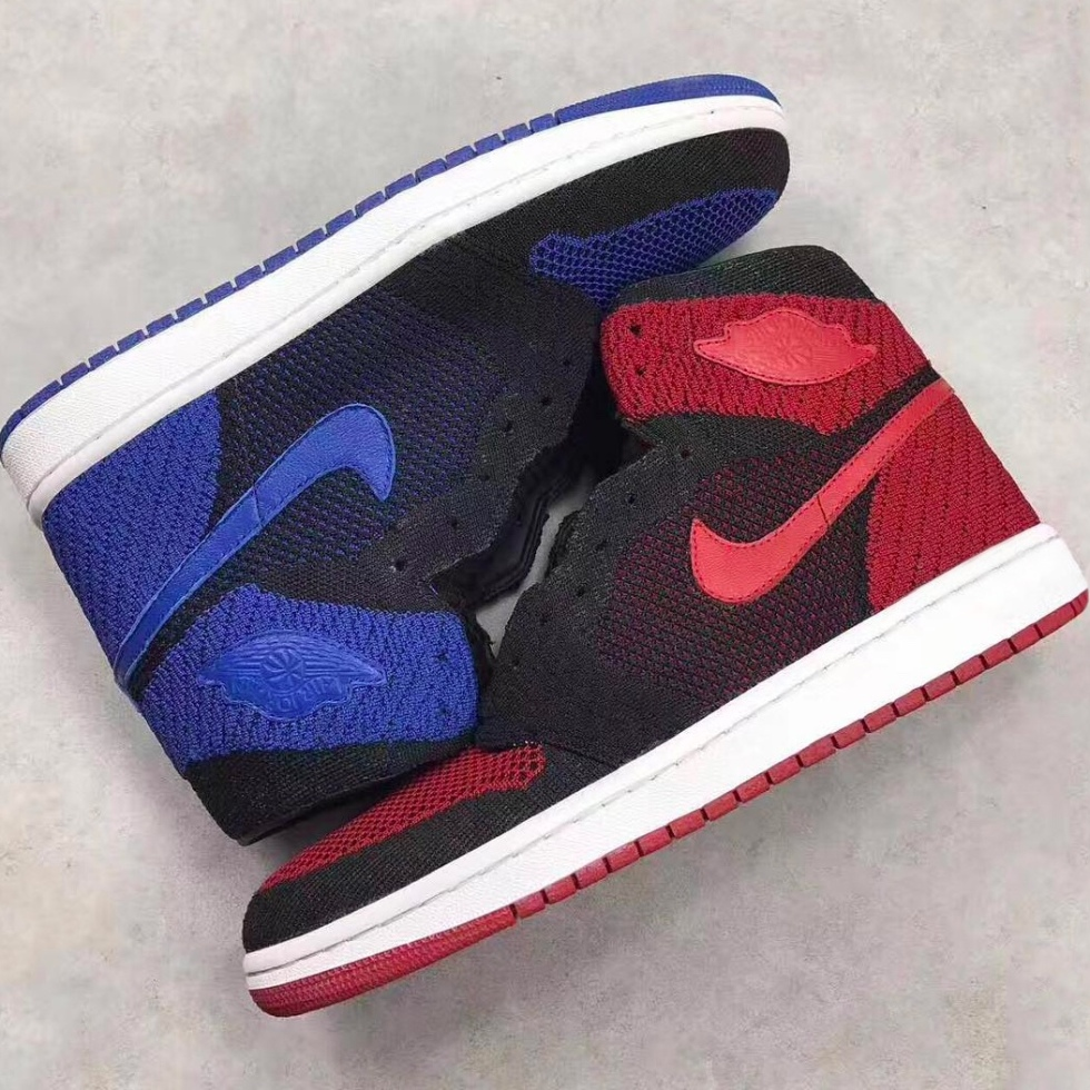 "Air Jordan 1 Flyknit In ""Banned"" And ""Royal"""