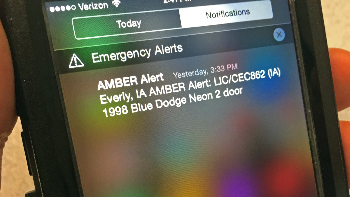 857 missing/abducted children rescued because of AMBER alert program