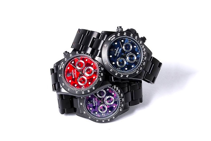 BAPE Drops 3 New BAPEX TYPE-3 Timepieces