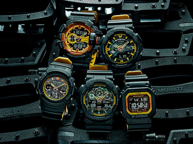 G-SHOCK - BLACK AND YELLOW