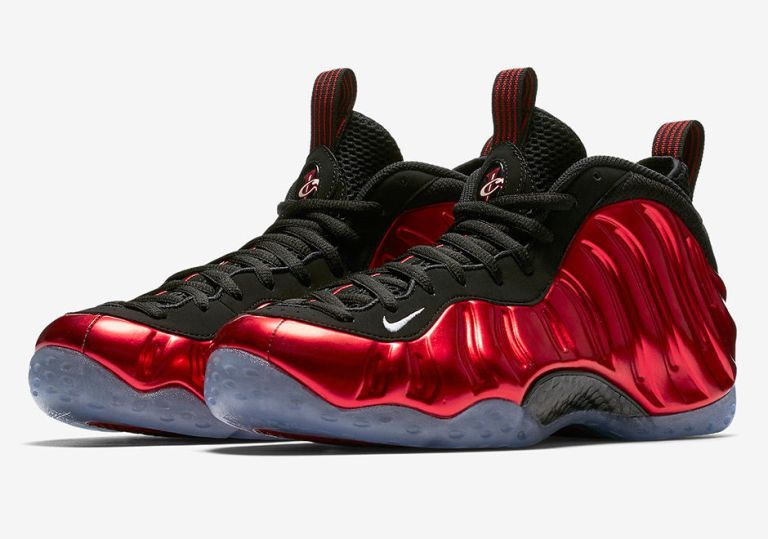 """NIKE AIR FOAMPOSITE ONE """"METALLIC RED"""" GETS A DATE"""