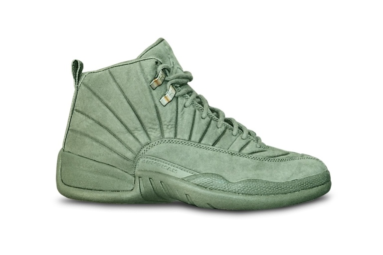"PSNY, Jordan Brand, PSNY x Air Jordan 12 ""Olive"","
