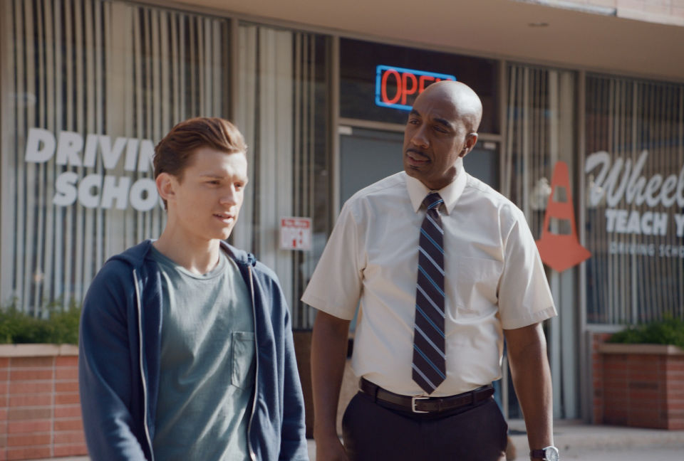 A GREAT NEW AUDI SPOT FEATURES PETER PARKER TAKING HIS DRIVER'S TEST WITH JB SMOOVE