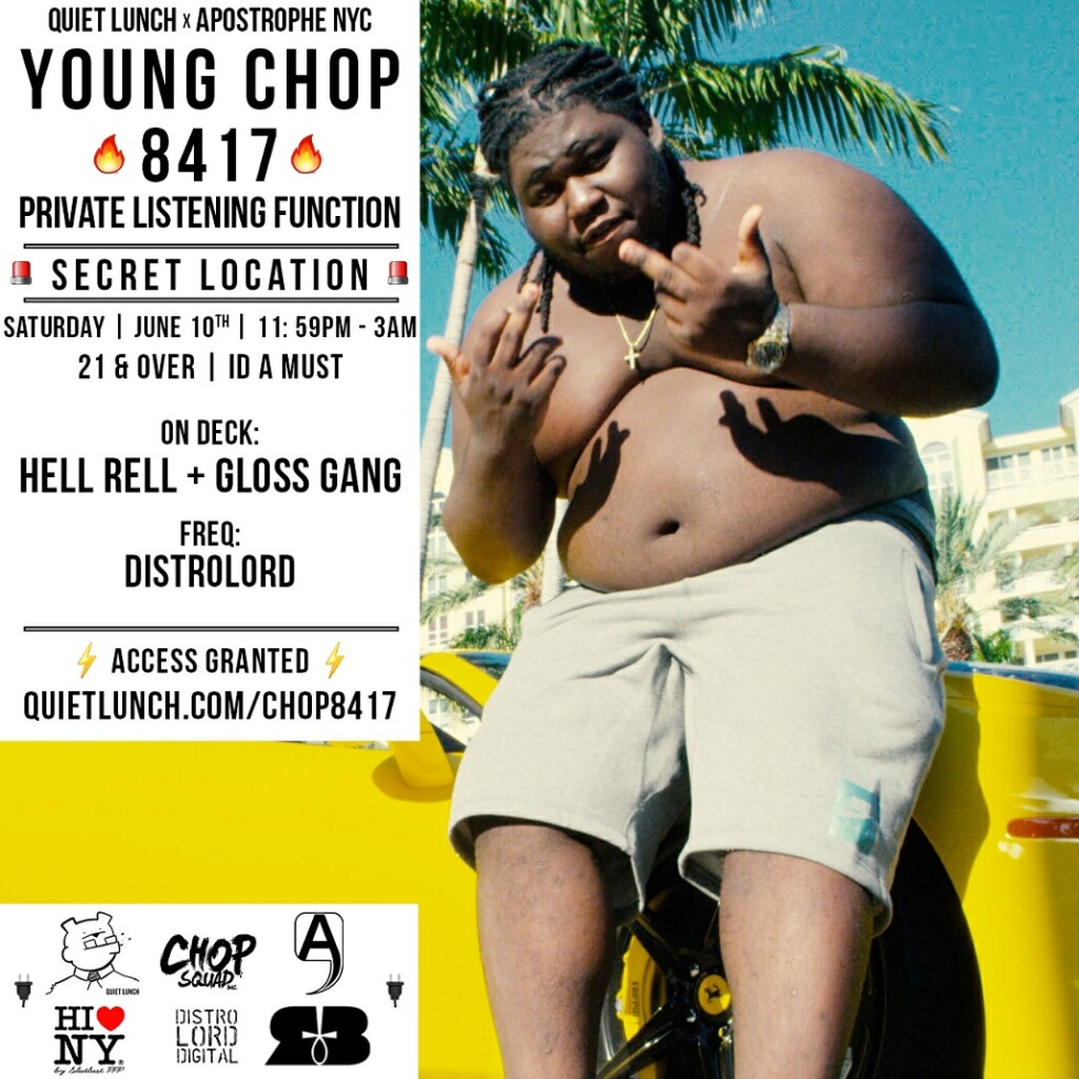 Young Chop NY! Private 8417 Album Listening Event