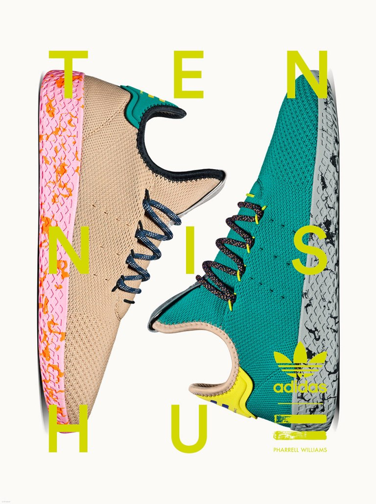 PHARRELL'S SECOND DROP OF ADIDAS TENNIS HU SHOES IS COMING