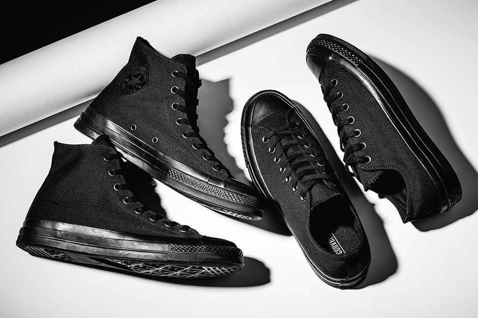 "The Converse Chuck Taylor All Star '70 Goes ""Triple Black"""